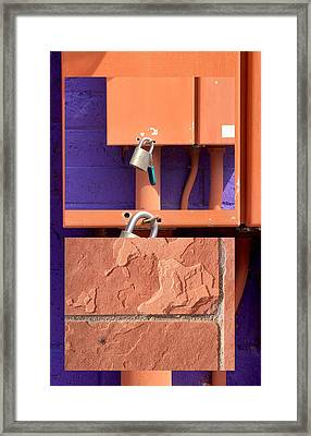 Urban Abstracts Seeing Double 77 Framed Print