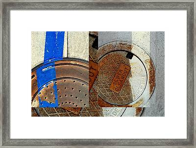 Urban Abstracts Seeing Double 84 Framed Print