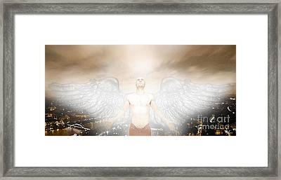 Urban Angel Framed Print by Carrie Jackson