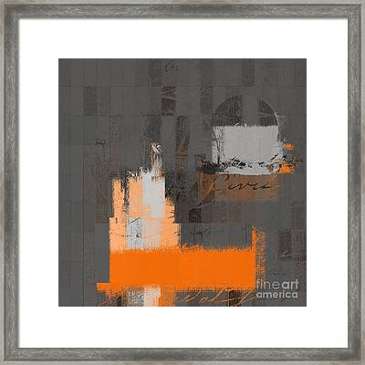 Urban Artan - S0111 - Orange Framed Print by Variance Collections