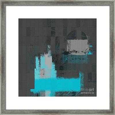 Urban Artan - S0111-turquoise Framed Print by Variance Collections