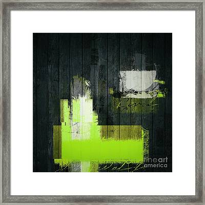 Urban Artan - S0112 - Green Framed Print by Variance Collections