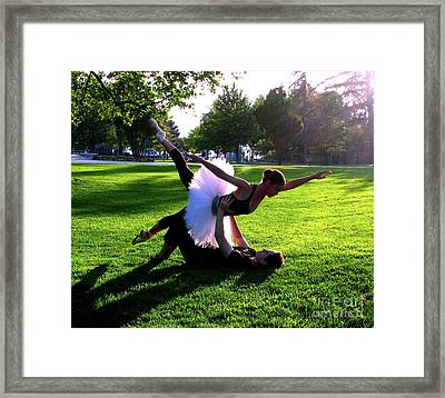 Urban Ballet Framed Print by Chiara Costa