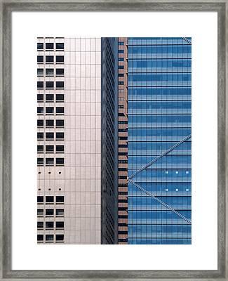 Urban Blocks Framed Print