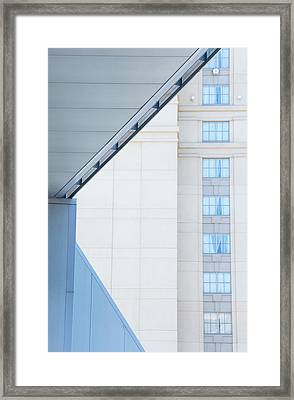 Urban Building Abstract Framed Print by Karol Livote