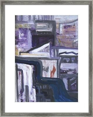 Urban Canyon Framed Print