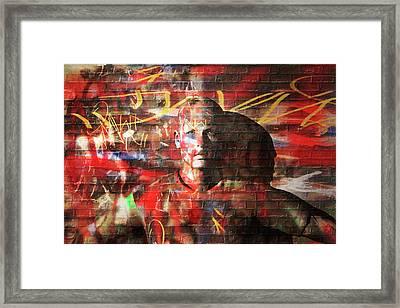 Urban Chameleon  Framed Print by Carol and Mike Werner