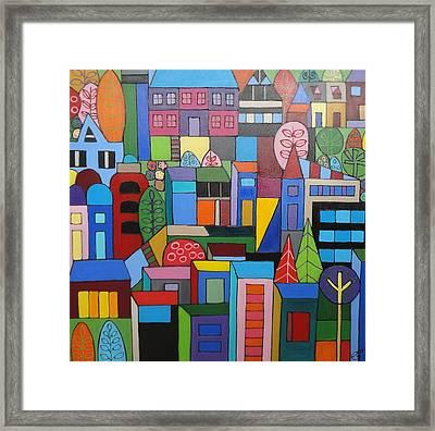 Urban Cityscape 1 Framed Print