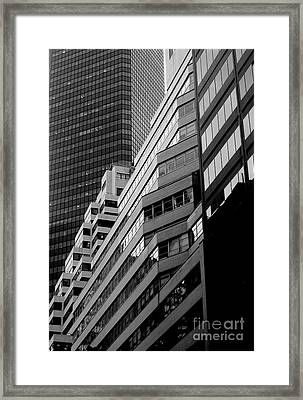 Framed Print featuring the photograph Urban Cliff Dwellings by Robert Riordan