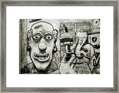 Urban Clown Framed Print by Shaun Higson