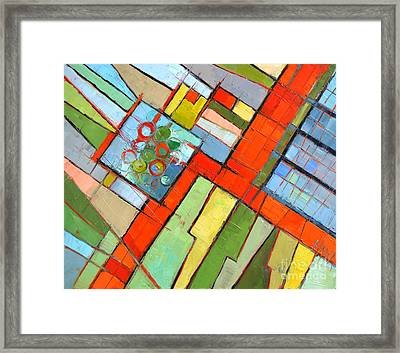 Urban Composition - Abstract Zoning Plan Framed Print by Mona Edulesco