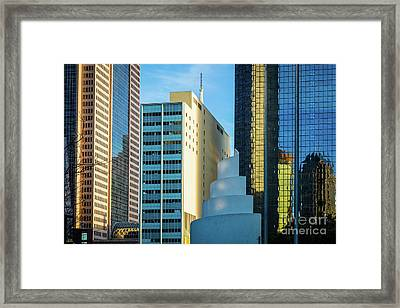 Urban Dallas Framed Print by Inge Johnsson