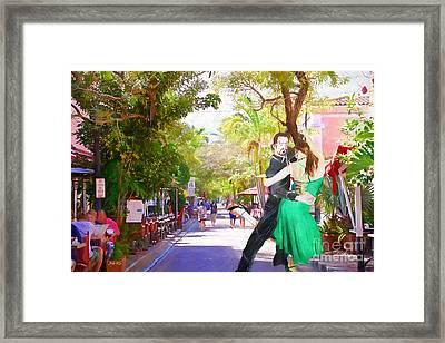 Urban Dancers  Framed Print