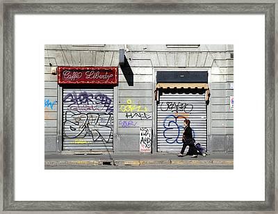 Urban Desert Framed Print by Valentino Visentini