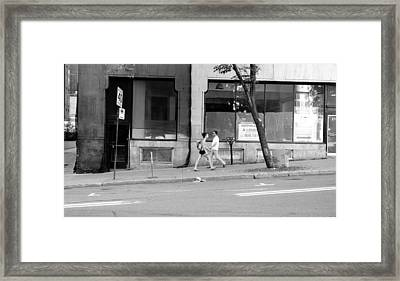 Framed Print featuring the photograph Urban Encounter by Valentino Visentini