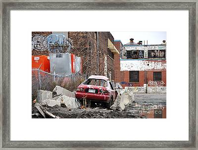 Urban Exploration War Zone Montreal Framed Print by Reb Frost