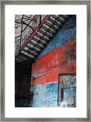 Urban Firescape Framed Print by WALL ART and HOME DECOR