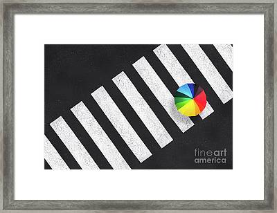 Urban Graphism Framed Print by Delphimages Photo Creations