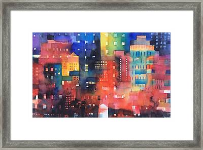 urban landscape 8 - Shadows and lights Framed Print by Alessandro Andreuccetti