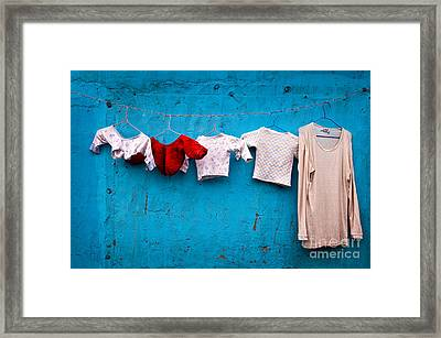 Urban Laundry Framed Print