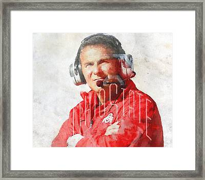 Urban Meyer Framed Print by Dan Sproul