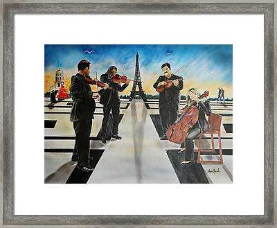 Urban Moment #9- City Of Lights Framed Print by Shawn Morrel