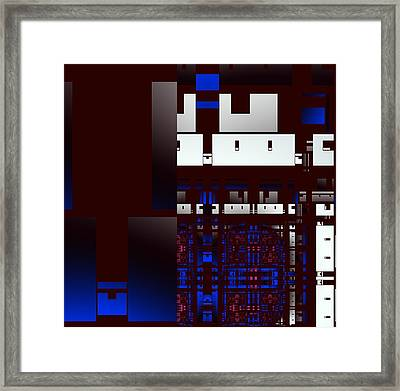 Urban Night Framed Print