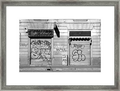 Urban Nothing Framed Print by Valentino Visentini