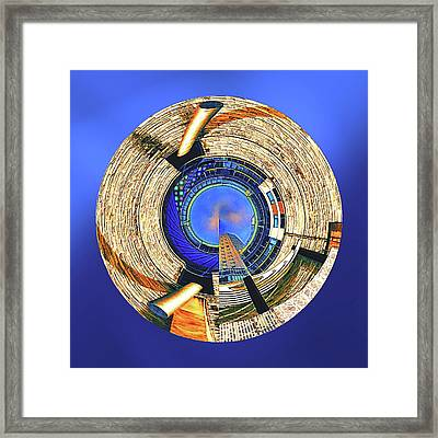 Framed Print featuring the digital art Urban Order by Wendy J St Christopher
