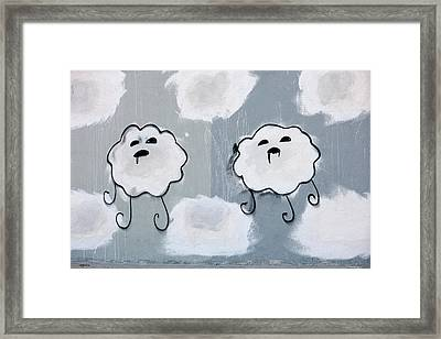 Framed Print featuring the photograph Urban Rain Clouds by Art Block Collections