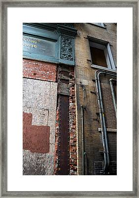 Urban Reconstruction Framed Print by Denise McKay
