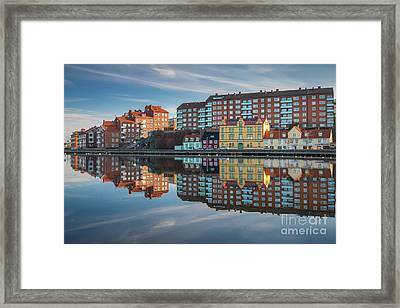 Urban Reflection Framed Print by Inge Johnsson