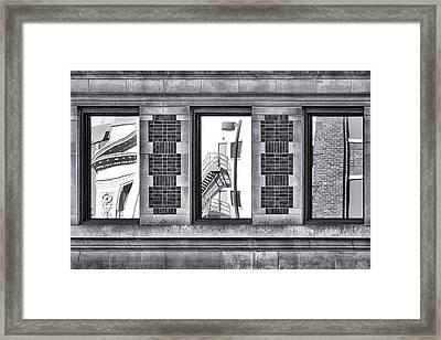 Urban Reflection Triptych Framed Print