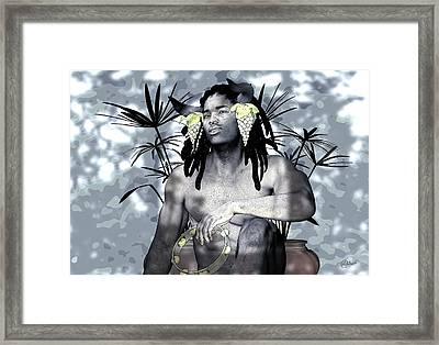 Urban Satyr Cool Shades Of Grey Framed Print by Quim Abella