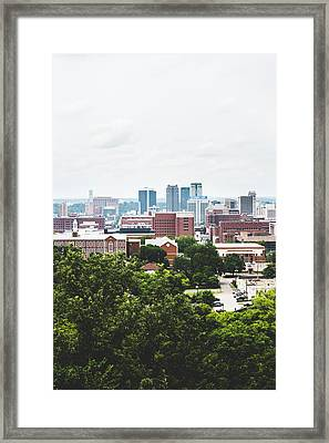Framed Print featuring the photograph Urban Scenes In Birmingham  by Shelby Young