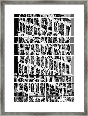 Urban Spatial Distortion - Salt Lake City - Utah Framed Print