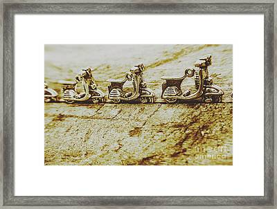 Urban Sprawl Of Scooters Framed Print by Jorgo Photography - Wall Art Gallery