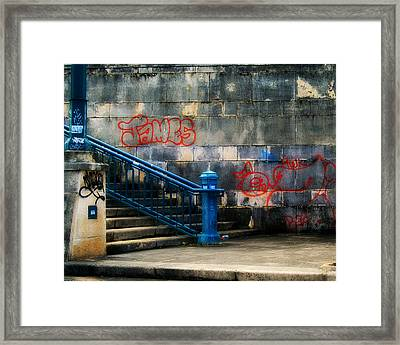 Urban Steps Framed Print by Perry Webster