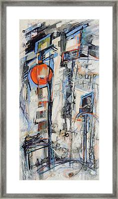 Framed Print featuring the painting Urban Street 1 by Mary Schiros