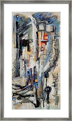 Framed Print featuring the painting Urban Street 2 by Mary Schiros