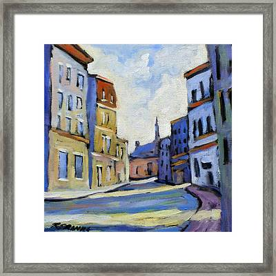 Urban Streets Framed Print by Richard T Pranke