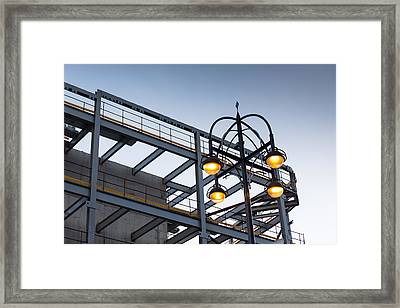 Framed Print featuring the photograph Urban Structures by Paul Indigo