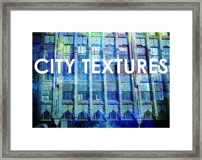 Urban Textures Blue Broadway Framed Print