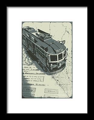 Commuter Rail Framed Prints