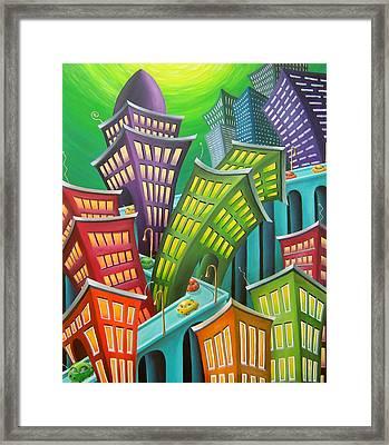 Urban Vertigo Framed Print