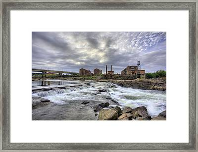 Urban White Water  Framed Print by JC Findley