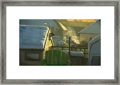 Urban Winter Landscape Uk Framed Print by Aleck Rich Seddon