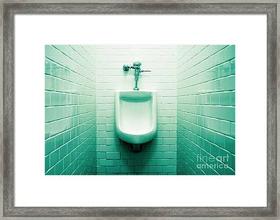 Urinal In Men's Restroom. Framed Print