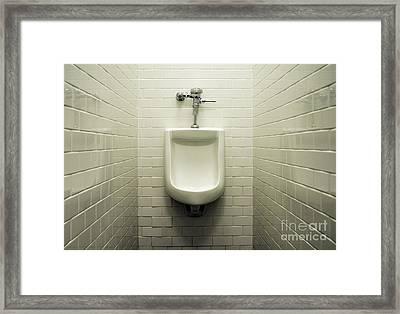 Urinal Framed Print by John Greim