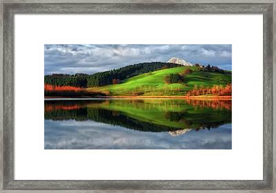 Urkulu Reservoir Framed Print